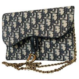 Christian Dior-Bolsa de sela-Azul marinho