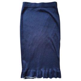 Chanel-Jupes-Bleu Marine