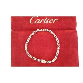 Cartier-Gourmette 3 ors-Doré
