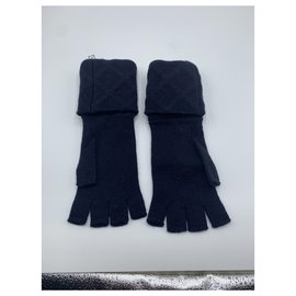 Chanel-Gloves-Navy blue