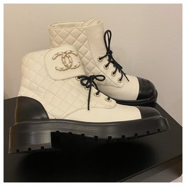 Chanel-Chanel boots cc-White