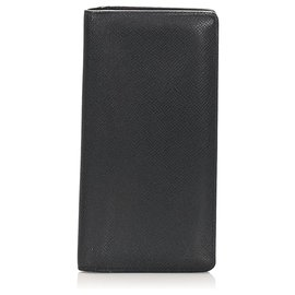 Louis Vuitton-Louis Vuitton Black Taiga Brazza Wallet-Black