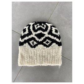 Moncler-Chapeaux-Noir,Écru