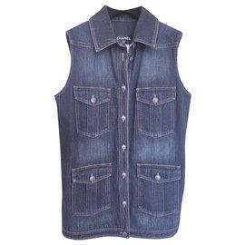 Chanel-NEW Paris-Dallas denim jacket-Dark blue
