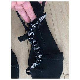 Giuseppe Zanotti-Snake shape beaded sandals-Black