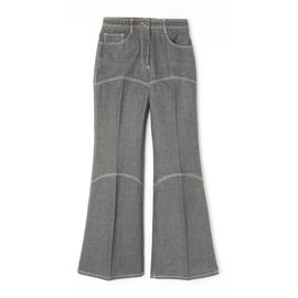 Chanel-GRAY DENIM FLARE FR36-Grey