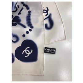 Chanel-SCARF CHANEL SILK-Eggshell