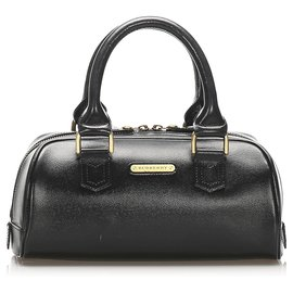 Burberry-Burberry Black Leather Handbag-Black