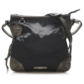 Burberry-Burberry Black Nylon Crossbody Bag-Black,Grey