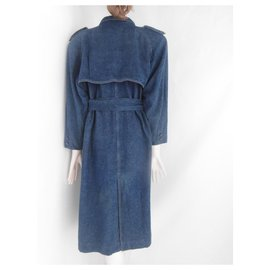 Leonard-Leonard Denim Coat-Blue