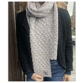 Chanel-Scarves-Dark grey