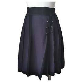 Chanel-Skirt-Navy blue