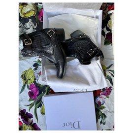 Christian Dior-DIOR BIKER CANNAGE BO.OTS-Black
