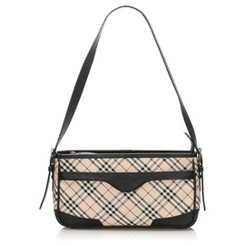 Burberry-Burberry Brown Nova Check Canvas Shoulder Bag-Brown,Multiple colors,Beige