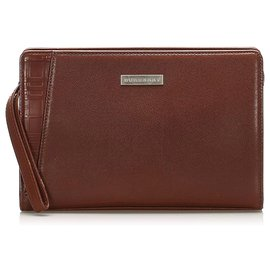 Burberry-Burberry Brown Leather Pouch-Brown
