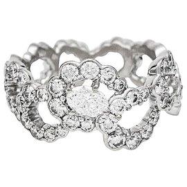 """Dior-Bague Dior """"Archi"""" en or blanc et diamants.-Autre"""