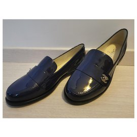 Chanel-Church´s Loafers-Navy blue
