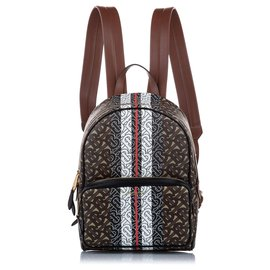 Burberry-Burberry Brown Monogram Coated Canvas Backpack-Brown,Multiple colors