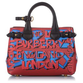 Burberry-Burberry Orange Banner Leather Satchel-Multiple colors,Orange