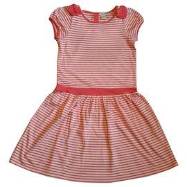 Cyrillus-Dresses-Pink,White