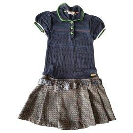 Autre Marque-Dresses-Beige,Navy blue