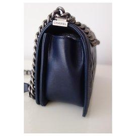 Chanel-Chanel Boy bag navy blue-Navy blue