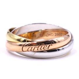 Cartier-Cartier tricolore 18k Taille de bague Trinity 49-Multicolore