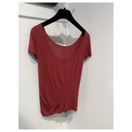 Chanel-Tops-Dark red