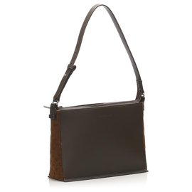 Burberry-Burberry Brown Leather Shoulder Bag-Brown,Dark brown
