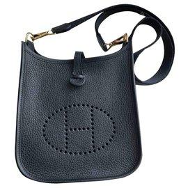 Hermès-Handbags-Black,Gold hardware