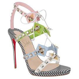 Christian Louboutin-Christian Louboutin Multiplaticool Embellished Sandals-Multiple colors
