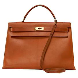 Hermès-Kelly 40-Light brown