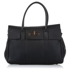Mulberry-Mulberry Black Bayswater Leather Handbag-Black