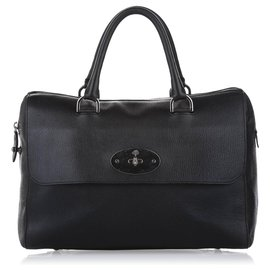 Mulberry-Mulberry Black Del Rey Leather Handbag-Black