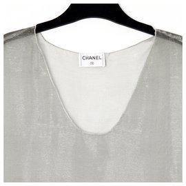Chanel-SILVER GRAY VEIL FR36/38-Silvery,Grey