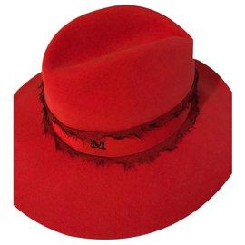 Maison Michel-Hats-Red