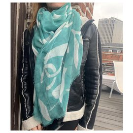 Chanel-Scarves-Green