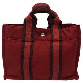 Hermès-Tote-Dark red