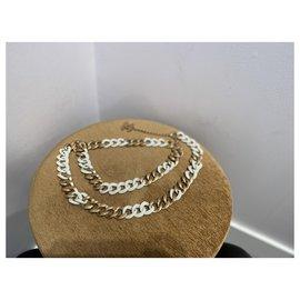 Chanel-Belts-White,Golden