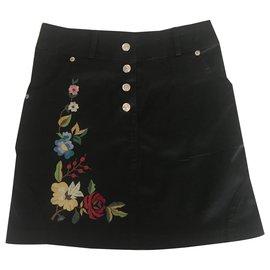 Dior-Jupes-Noir,Multicolore