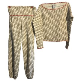 Dior-tailleur pantalon-Marron,Beige