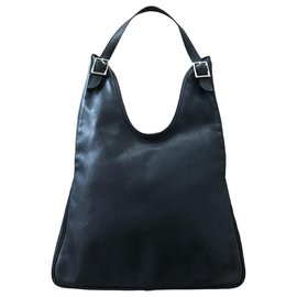 Hermès-Hermes Massai bag in navy blue leather-Navy blue