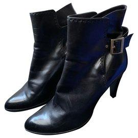 Louis Vuitton-Ankle Boots-Dark brown