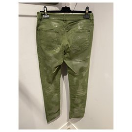 Chanel-Jeans-Golden,Green