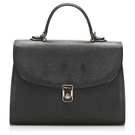 Burberry-Burberry Black Leather Satchel-Black
