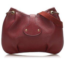 Hermès-Hermes Red Rodeo Leather Crossbody Bag-Red,Dark red