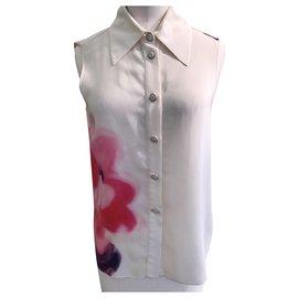Chanel-Chanel sleeveless blouse-Eggshell