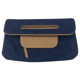 Chanel-Clutch bags-Navy blue