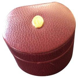 Cartier-Boîte à bijoux Cartier cuir-Bordeaux