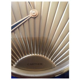 Cartier-Pendulette de bureau Cartier Vintage art déco lapis-Bleu